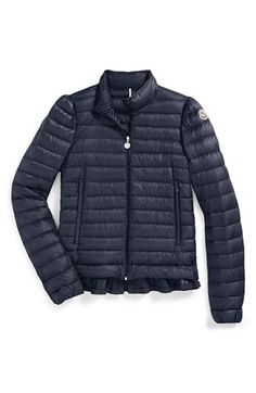 Moncler Ruffle Down Jacket (Little Girls & Big Girls) available at #Nordstrom
