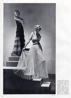 Chanel 1937  Evening Gown, Photo Horst, Back: Robert Piguet