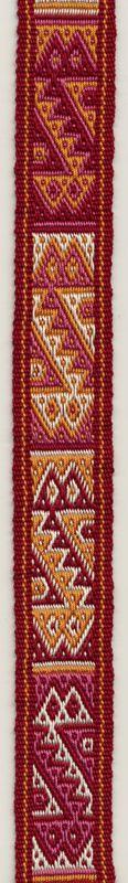 Pebble weave  patterns in double weave, woven with tablets. Marijke van Epen