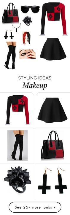"""My version of Harley Quinn."" by livelaughlovefashions-19 on Polyvore featuring MSGM, Liliana, Eddie Borgo and Chicnova Fashion"