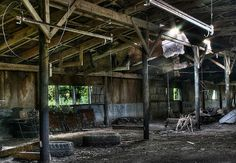 No longer home to horses, these rotting stables in rural Pennsylvania are rife with decay.