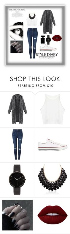 """Magazine"" by manarn5 on Polyvore featuring Miss Selfridge, Converse, Chanel, I Love Ugly, Lime Crime and Narciso Rodriguez"