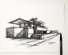 https://flic.kr/p/AZ5izF | My lazy Sunday architectural sketch - Frank Lloyd…