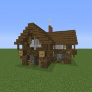 Small Village Rustic House 1 GrabCraft Your number one source for MineCraft buildings blu Minecraft small house Minecraft beach house Village house design