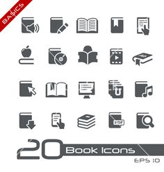 Book icons basics series vector 992036 - by diegoalies on VectorStock®