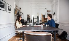 Travailler chez soi, oui mais avec un vrai coin bureau! Comme pour ces architectes d'intérieur à retrouver sur le site!