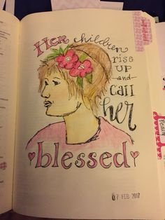 Proverbs 31 her children, motherhood, colored pencils, Faith, bible, mother, children, bible journaling, blessed