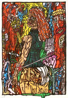 Robert Combas à la galerie Laurent Strouk Bad Painting, Mexican Colors, Neo Expressionism, Fauvism, Pins, Laurent, Conceptual Art, Wall Design, Art Drawings