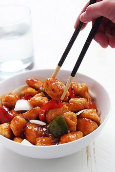 Healthy sweet & sour chicken