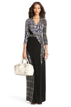 Diana Silk Jersey Maxi Wrap Dress