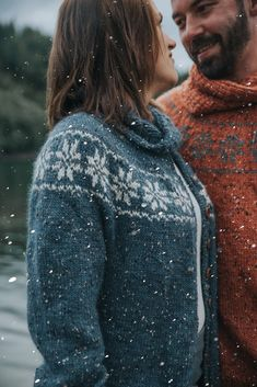 DSA73-13 Stjernejakke voksen blå   Du Store Alpakka Madame, Knit Cardigan, Tweed, Creations, Turtle Neck, Sweaters, Cardigans, Knitting, Craft