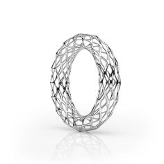 The GRID Bangle | Double Slim SILVER