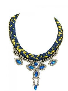 Jolita Jewellery - St.Petersburg Necklace Blue, £280.00 (http://www.jolitajewellery.com/st-petersburg-necklace-blue/)