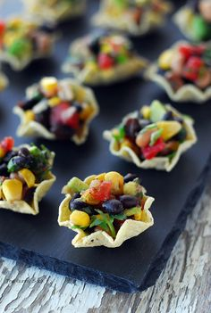 Mini Southwest Salads  (Cowboy Caviar Cups)