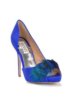 Piper Feather Embellishment Evening Shoe by Badgley Mischka