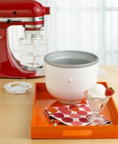 **Best Invention ever**   I have one of these - it is so much faster than the old fashioned mixers!  KitchenAid Stand Mixer Attachment - Ice Cream Maker!
