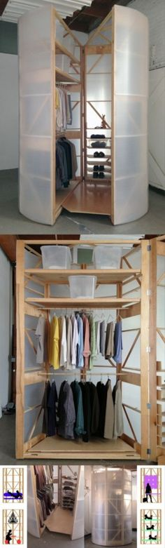 Tuberoom, a walk-in closet