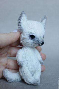 Купить Белый волчонок - белый, белый волк, белый волчонок, волчонок, волк, тедди волчонок