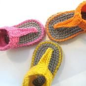 Gladiator Sandal Booties Crochet Pattern