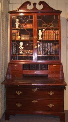 antique secretary desk - Ideal home office, perfect place for letter writing, bill paying, and using lap top.....in Master Suite