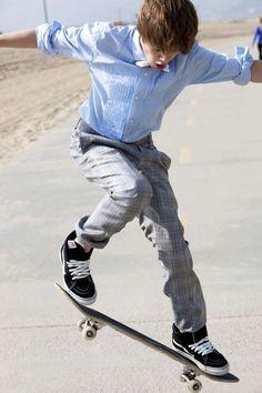 Justin skateboarding (: