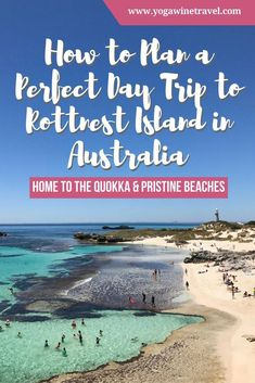 How to Plan a Perfect Day Trip to Rottnest Island in Australia : How to Plan a Perfect Day Trip to Rottnest Island in Australia. Rottnest Island is a small island off the coast of Western Australia and is best known for its population of quokkas as well a Brisbane, Melbourne, Perth Western Australia, Visit Australia, Australia 2017, Coast Australia, Sydney Australia, Cook Islands, Australia Travel Guide