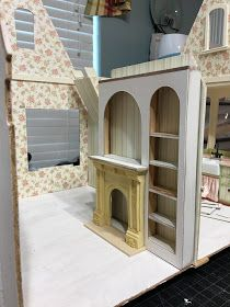 My Miniature Madness: Storybook Dreaming and Doing Dollhouse Design, Diy Dollhouse, Dollhouse Miniatures, Dollhouse Interiors, Miniature Rooms, Miniature Houses, Forest Cottage, Cross Stitch Pattern Maker, Built In Cupboards