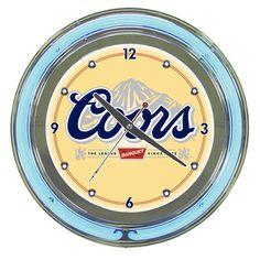 Coors Banquet Neon Wall Clock  -  www.ultimatemancaveshop.com