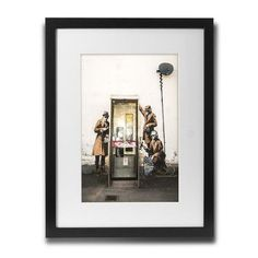 PingoWorld 'Phone Booth Spies' by Banksy Framed Graphic Art Size: