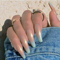 Ombré coffin nails