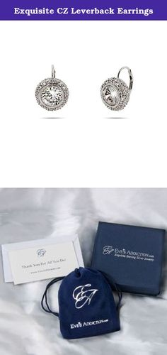 Exquisite CZ Leverback Earrings. These simple cz's are elegant classics. Wear them with evening wear and nice going out clothes.