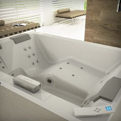 1000 images about baignoire baln o jacuzzi on pinterest jacuzzi centre a - Baignoire spa jacuzzi ...