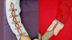 Beautiful Sleeves Designs Cutting and Stitching - Kurti Blouse Chudidhar Neck Designs, Neck Designs For Suits, Sleeves Designs For Dresses, Blouse Neck Designs, Hand Designs, Sleeve Designs For Kurtis, Salwar Suit Neck Designs, Churidar Designs, Kurta Neck Design