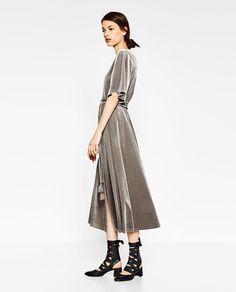 ZARA - WOMAN - CROSSOVER VELVET DRESS