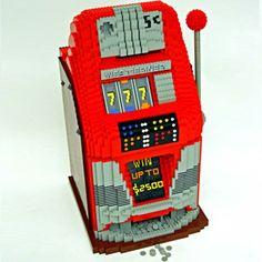 Antique Slot Machine — Nathan Sawaya — The Art of the Brick