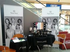 Oriflame NovAge promo at Mylly Motor Show. Frozen Desserts, Four Square