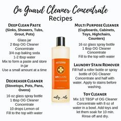 Your regular cleaning products are full of horrible chemicals. OnGuard is efficient and safe for you, your family and pets   On Guard Essential Oil, Essential Oils Cleaning, Essential Oil Uses, Doterra On Guard Uses, Doterra Essential Oils, Doterra Blends, Natural Cleaning Products, Natural Oils, Instagram