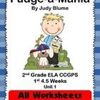 This unit is designed to go with Fudge-a-Mania 2nd Grade ELA CCGPS Unit 1 for 4.5 weeks. Every worksheet you will need for the 2nd Grade ELA CCGPS $5.50