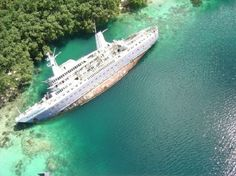The World Discoverer cruise ship abandoned in the Solomon Islands