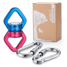 Rotational Device Safest Swing Swivel (30KN) with 2 Carabiners For Web Tree Swi