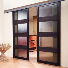 Among other types of doors that available on the market, the sliding door is the best option for any type of home. For those who live in tiny apartment, the sliding door is . Read MoreHow to Replace a Sliding Glass Door Properly Wood Doors Interior, Door Fittings, Home, Interior, Sliding Doors Interior, Interior Barn Doors, Sliding Door Design, Home Decor, Internal Doors