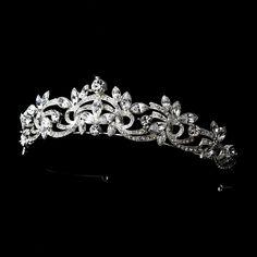 Dazzling Marquise Rhinestone Bridal Tiara -Affordable Elegance Bridal -