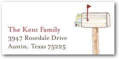 happy mailbox return address labels