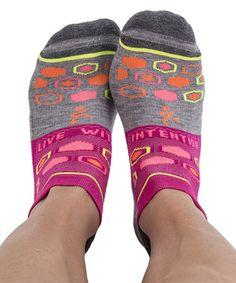 Gray & Electric Pink Grace Enduro Socks #zulily #zulilyfinds