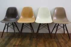 Earthtone Eames chairs..an absolute classic and such beauties!