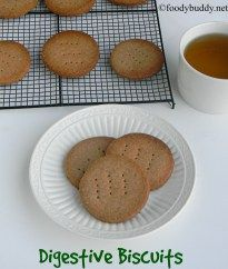 Easy Digestive Biscuits Recipe (Homemade) is an eggless English style biscuit. It tasted like Mcvitie's disgestive biscuit and is very easy to make at home.