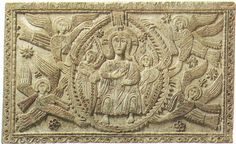 Altar de San Martín o del Duque Ratchis. Cristo en mandorla rodeado de ángeles