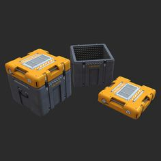 sci fi metal crate which the lid lifts of from top of box which is held together by lock clips. And has metal bars on top of lid and handles on ether side of the box making u it portable. Spaceship Interior, Futuristic Interior, Futuristic Design, Blender 3d, Hard Surface Modeling, 3d Modeling, Military Box, Sci Fi Games, Arte Cyberpunk