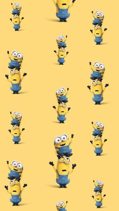 Обои iPhone wallpaper minions pattern