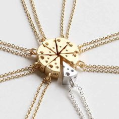 Insanely Cute Snack-Themed Necklaces For True BFFs...Keep it cheesy.